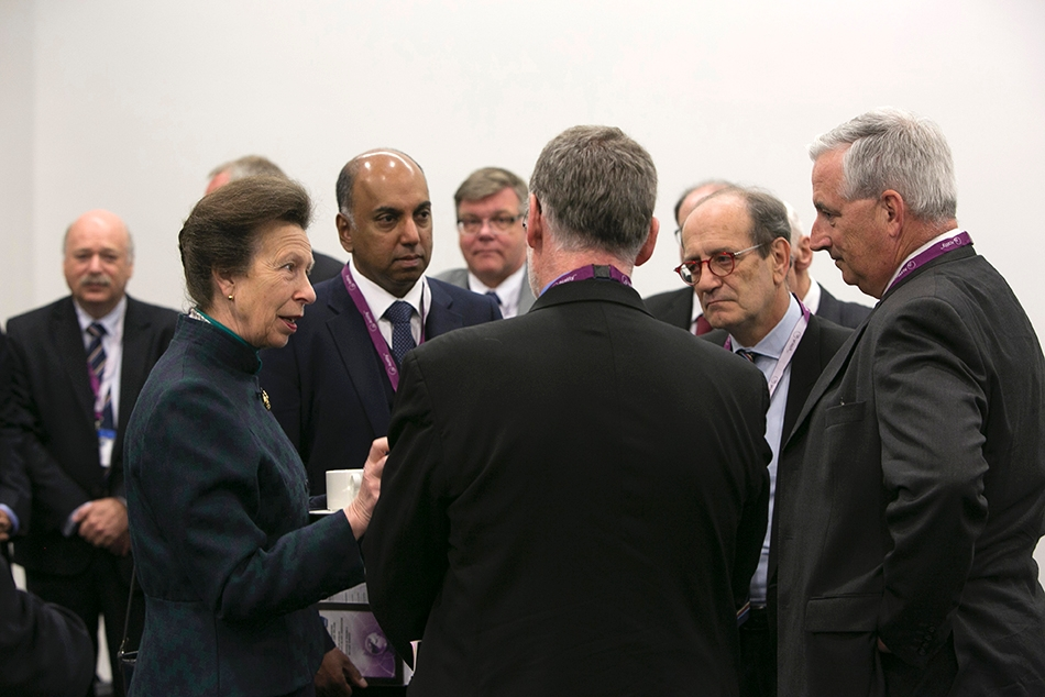 HRH Princess Anne visits the E-AHPBA Congress 2015.