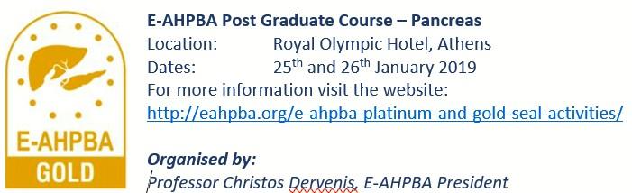 E-AHPBA PG Course – Pancreas