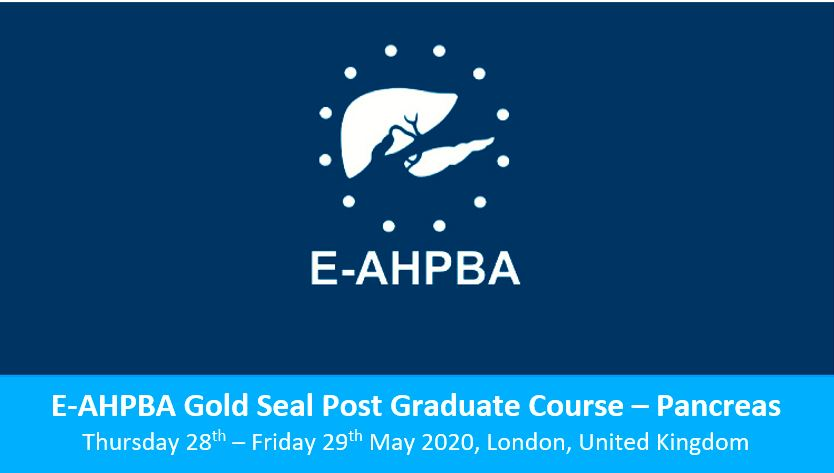 E-AHPBA Gold Post Graduate Course: Pancreas – Postponed