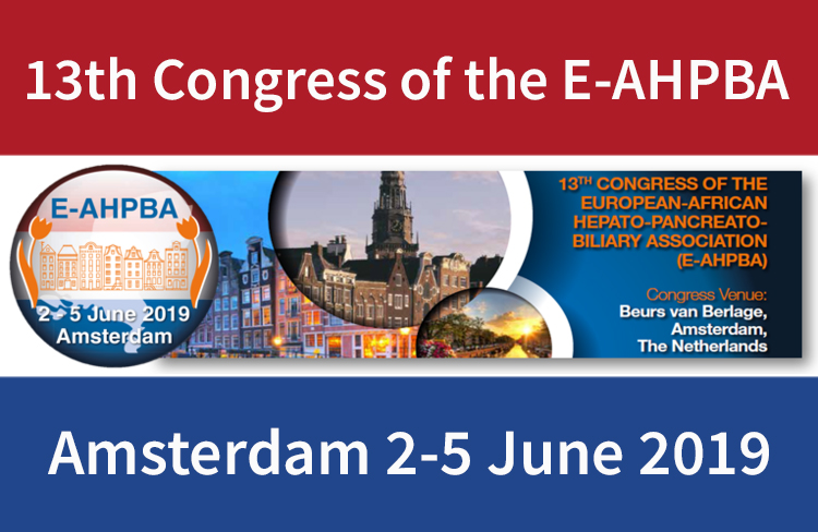 Congress Of The E-AHPBA, 2 – 5 June 2019, Amsterdam, The Netherlands.