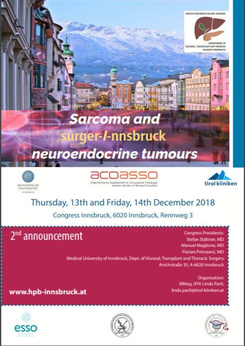 Sarcoma And Neuroendocrine Tumours 2018