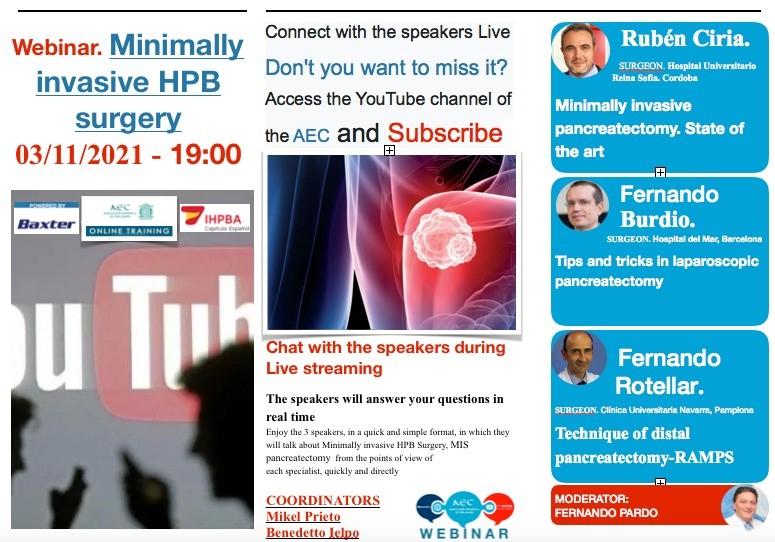 Webinar – Minimally Invasive HPB Surgery